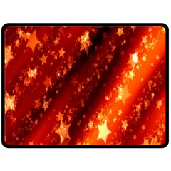 Star Christmas Pattern Texture Double Sided Fleece Blanket (Large)