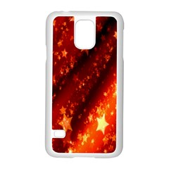 Star Christmas Pattern Texture Samsung Galaxy S5 Case (white)