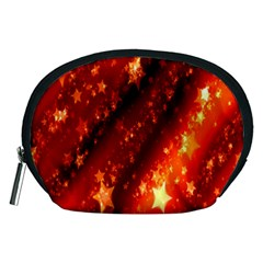 Star Christmas Pattern Texture Accessory Pouches (Medium)