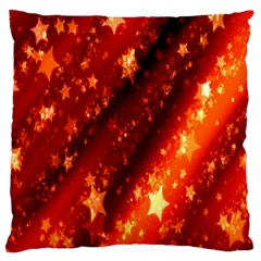 Star Christmas Pattern Texture Large Flano Cushion Case (two Sides)