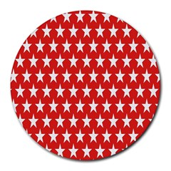 Star Christmas Advent Structure Round Mousepads