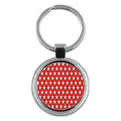 Star Christmas Advent Structure Key Chains (Round)