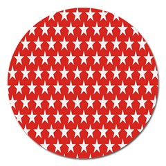 Star Christmas Advent Structure Magnet 5  (round)