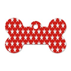 Star Christmas Advent Structure Dog Tag Bone (One Side)