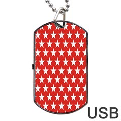 Star Christmas Advent Structure Dog Tag Usb Flash (one Side)