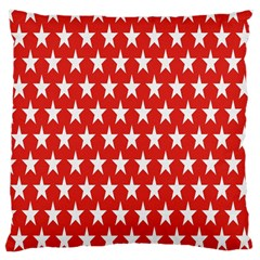 Star Christmas Advent Structure Large Cushion Case (two Sides)