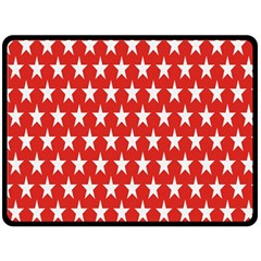 Star Christmas Advent Structure Double Sided Fleece Blanket (large)