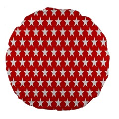 Star Christmas Advent Structure Large 18  Premium Flano Round Cushions