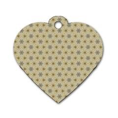 Star Basket Pattern Basket Pattern Dog Tag Heart (One Side)