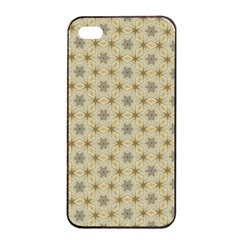 Star Basket Pattern Basket Pattern Apple iPhone 4/4s Seamless Case (Black)