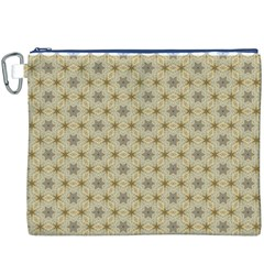 Star Basket Pattern Basket Pattern Canvas Cosmetic Bag (xxxl)