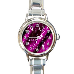 Star Christmas Sky Abstract Advent Round Italian Charm Watch