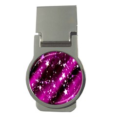 Star Christmas Sky Abstract Advent Money Clips (Round)