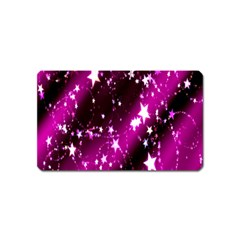 Star Christmas Sky Abstract Advent Magnet (Name Card)