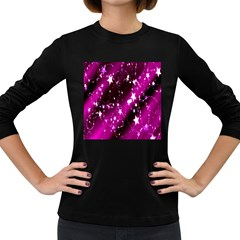Star Christmas Sky Abstract Advent Women s Long Sleeve Dark T Shirts