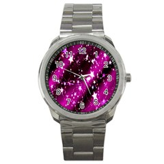 Star Christmas Sky Abstract Advent Sport Metal Watch