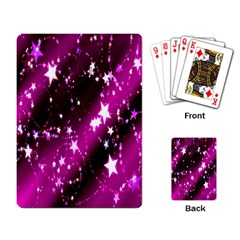Star Christmas Sky Abstract Advent Playing Card