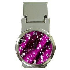 Star Christmas Sky Abstract Advent Money Clip Watches
