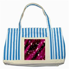 Star Christmas Sky Abstract Advent Striped Blue Tote Bag