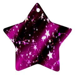 Star Christmas Sky Abstract Advent Star Ornament (Two Sides)