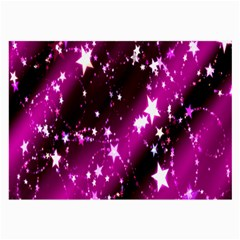 Star Christmas Sky Abstract Advent Large Glasses Cloth