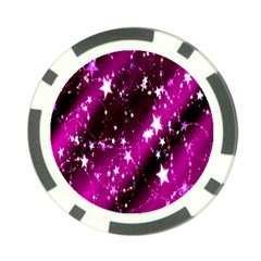 Star Christmas Sky Abstract Advent Poker Chip Card Guard