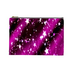 Star Christmas Sky Abstract Advent Cosmetic Bag (large)