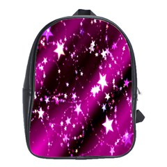 Star Christmas Sky Abstract Advent School Bags(large)