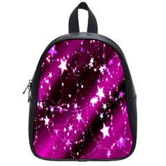Star Christmas Sky Abstract Advent School Bags (small)