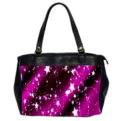 Star Christmas Sky Abstract Advent Office Handbags (2 Sides)
