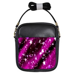 Star Christmas Sky Abstract Advent Girls Sling Bags