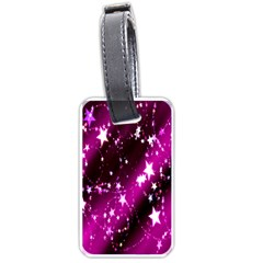 Star Christmas Sky Abstract Advent Luggage Tags (One Side)