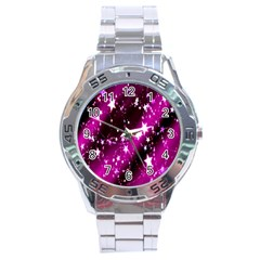 Star Christmas Sky Abstract Advent Stainless Steel Analogue Watch