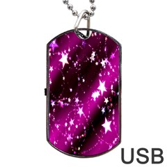 Star Christmas Sky Abstract Advent Dog Tag USB Flash (One Side)