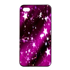 Star Christmas Sky Abstract Advent Apple iPhone 4/4s Seamless Case (Black)