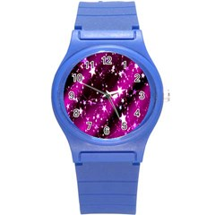 Star Christmas Sky Abstract Advent Round Plastic Sport Watch (s)