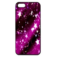 Star Christmas Sky Abstract Advent Apple iPhone 5 Seamless Case (Black)