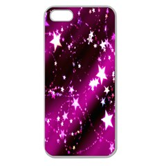 Star Christmas Sky Abstract Advent Apple Seamless Iphone 5 Case (clear)