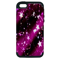 Star Christmas Sky Abstract Advent Apple iPhone 5 Hardshell Case (PC+Silicone)