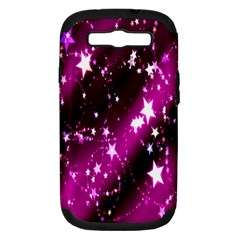 Star Christmas Sky Abstract Advent Samsung Galaxy S Iii Hardshell Case (pc+silicone)