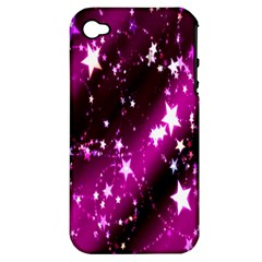 Star Christmas Sky Abstract Advent Apple Iphone 4/4s Hardshell Case (pc+silicone)