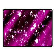Star Christmas Sky Abstract Advent Double Sided Fleece Blanket (small)
