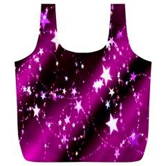 Star Christmas Sky Abstract Advent Full Print Recycle Bags (l)