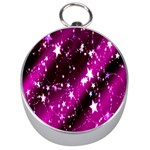 Star Christmas Sky Abstract Advent Silver Compasses Front