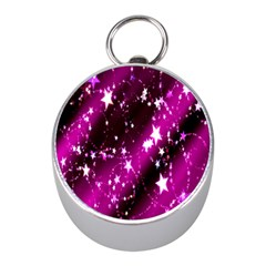 Star Christmas Sky Abstract Advent Mini Silver Compasses