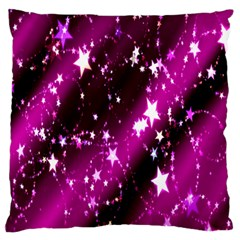 Star Christmas Sky Abstract Advent Large Flano Cushion Case (two Sides)