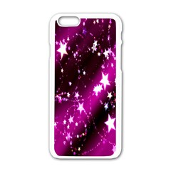 Star Christmas Sky Abstract Advent Apple Iphone 6/6s White Enamel Case