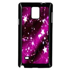 Star Christmas Sky Abstract Advent Samsung Galaxy Note 4 Case (Black)