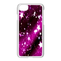 Star Christmas Sky Abstract Advent Apple iPhone 7 Seamless Case (White)