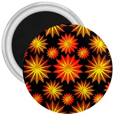 Stars Patterns Christmas Background Seamless 3  Magnets